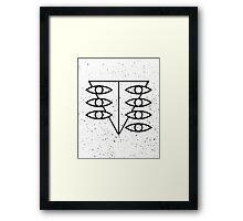 Seele Eyes (Black) Framed Print