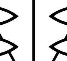Seele Eyes (Black) Sticker