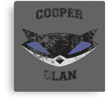 Cooper Clan distressed (Sly Cooper) Canvas Print