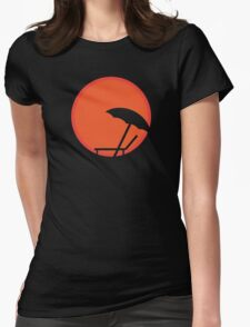 Hot like the sunrise Womens Fitted T-Shirt