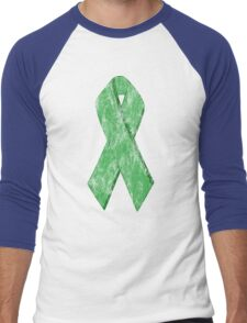 green ribbon Men's Baseball ¾ T-Shirt