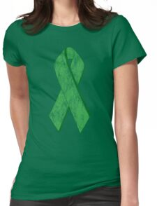 green ribbon Womens Fitted T-Shirt