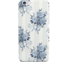 Vintage rose blue pattern iPhone Case/Skin