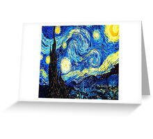 Starry Night - Vincent Van Gough Greeting Card