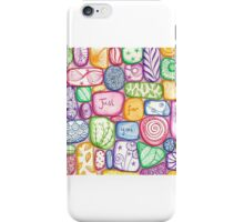Just for you pebbles iPhone Case/Skin