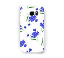Cornflowers drawn on a white background. Samsung Galaxy Case/Skin