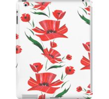 Stylized Poppy flowers illustration iPad Case/Skin
