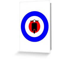 Scooter target - Mods Greeting Card