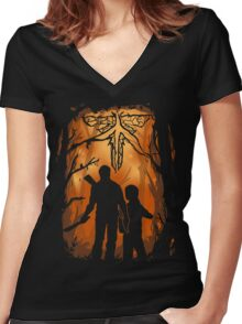 For Our Survival. Women's Fitted V-Neck T-Shirt