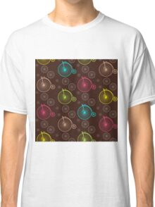 Vintage bicycle seamless pattern Classic T-Shirt