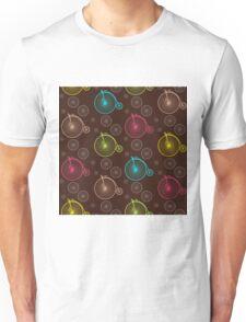 Vintage bicycle seamless pattern Unisex T-Shirt