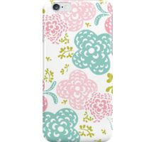Floral seamless pattern on white background, sweet style iPhone Case/Skin