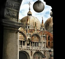 ST. MARKS BASILICA THROUGH COLONNADE by Edward J. Laquale