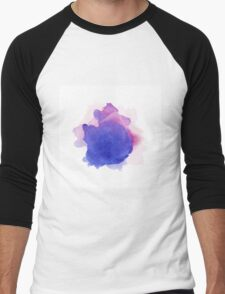 Abstract watercolor art hand paint on white background Men's Baseball ¾ T-Shirt