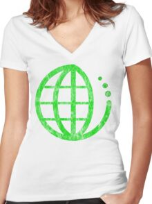ecoecho : green earth Women's Fitted V-Neck T-Shirt