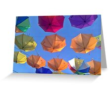 Parasols in the sky II Greeting Card
