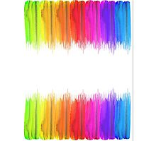 Striped hand drawn watercolor background. Bright colors. Watercolor composition for print. Photographic Print