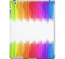 Striped hand drawn watercolor background. Bright colors. Watercolor composition for print. iPad Case/Skin