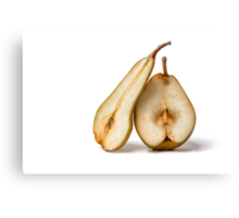 Pears - My Sweet And Perfect Half Canvas Print