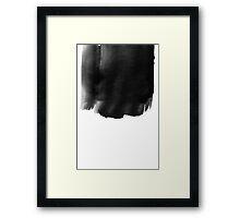 Grunge black watercolor background. Framed Print