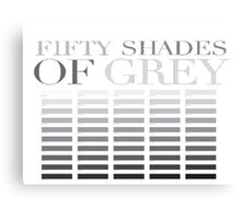 50 shades of grey Canvas Print