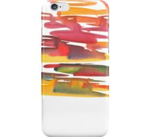 Hand drawing with colored spots and blotches.  iPhone Case/Skin