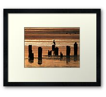 Red Water Framed Print