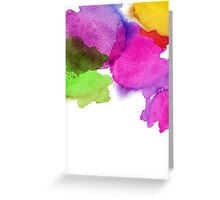 Bright watercolor stains Greeting Card