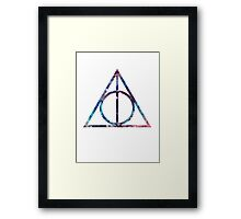 Deathly Hallows - Nebula Framed Print