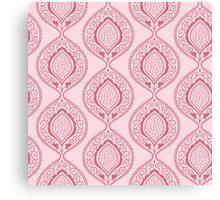 Luxury pink ornamental floral pattern Canvas Print