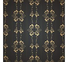 Damask vintage floral pattern Photographic Print