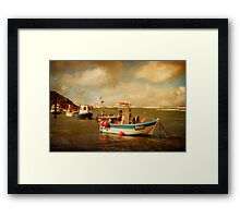 Bude Boats Framed Print