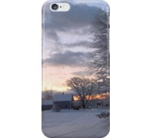 Winter on the farm iPhone Case/Skin