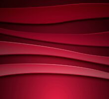 Red abstract background with curved lines by LourdelKaLou