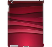 Red abstract background with curved lines iPad Case/Skin