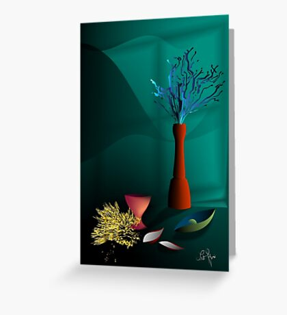 Still life in studio Greeting Card
