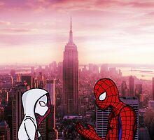 Spider-Gwen & Spider-Man by PartofyourworId