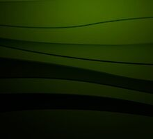 Green abstract background with curved lines by LourdelKaLou