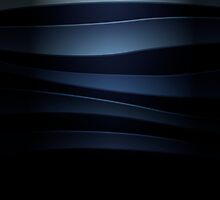 Blue abstract background with curved lines by LourdelKaLou