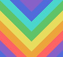 Rainbow Chevrons pattern by jezkemp
