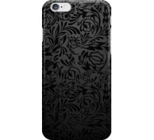 Black  floral wallpaper pattern. iPhone Case/Skin