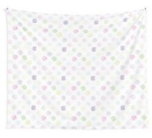 Black and white pattern in roses with contours.  Wall Tapestry