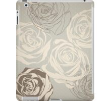 Vintage floral  pattern with hand drawn roses iPad Case/Skin