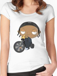 A$AP Rocky vs. Stewie  Women's Fitted Scoop T-Shirt
