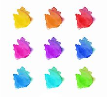 Abstract hand drawn watercolor blots.  by LourdelKaLou