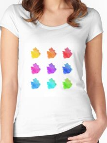 Abstract hand drawn watercolor blots.  Women's Fitted Scoop T-Shirt
