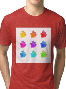 Abstract hand drawn watercolor blots.  Tri-blend T-Shirt