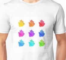 Abstract hand drawn watercolor blots.  Unisex T-Shirt
