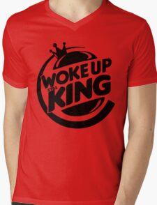 Woke Up Still King Mens V-Neck T-Shirt