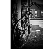 Black and White Bicycle Photographic Print